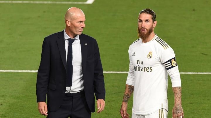 Zinedine Zidane has been discussing the future of Sergio Ramos
