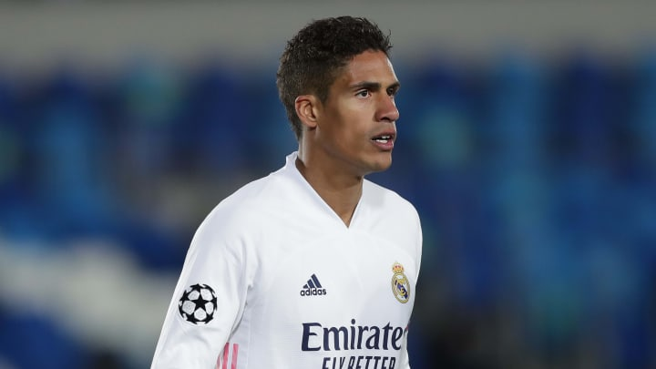 Raphael Varane will miss Real Madrid's clash with Liverpool