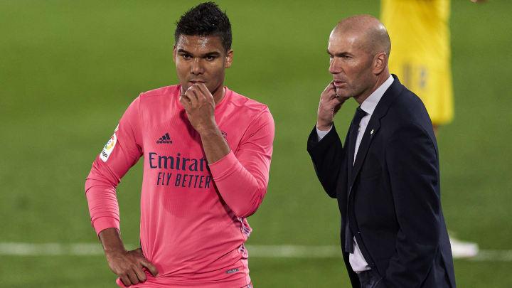 Casemiro, Zinedine Zidane head Coach