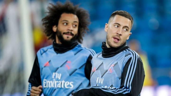 Eden Hazard et Marcelo sont poussés vers la sortie.
