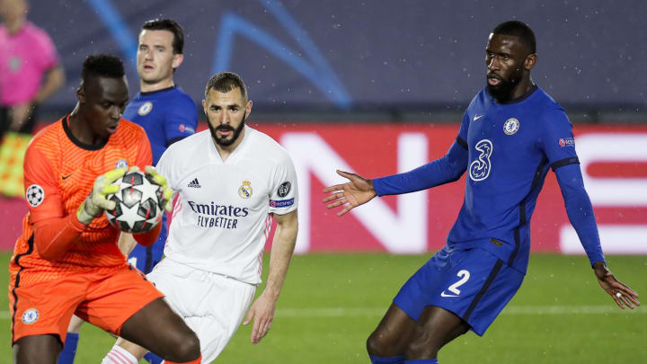 A rainy night in Madrid ended level in the first leg