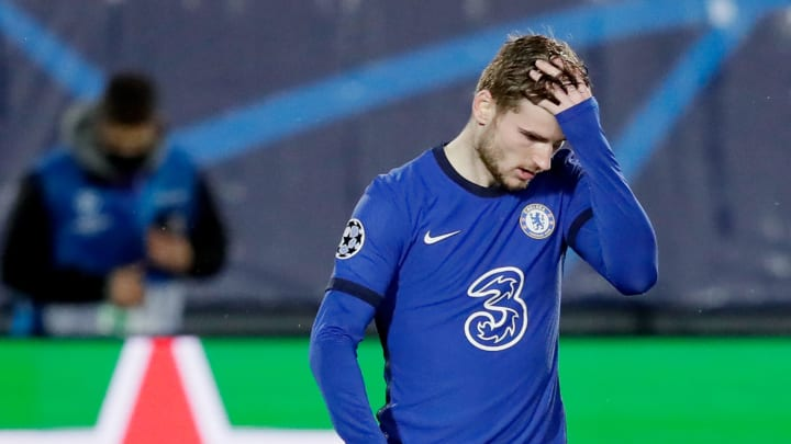 Timo Werner failed to score from close range against Real Madrid