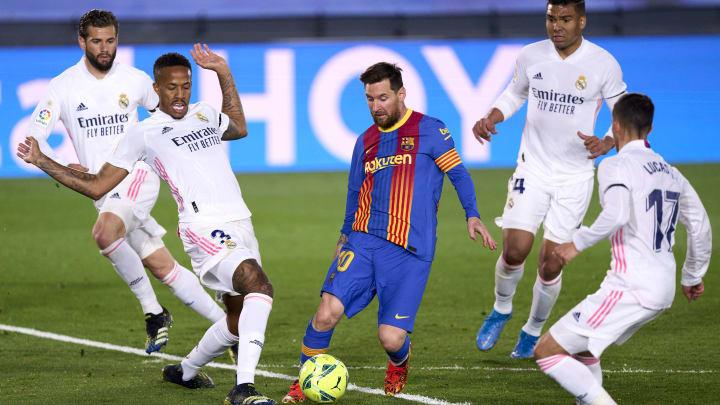 Lionel Messi não fez um bom jogo diante do Real Madrid