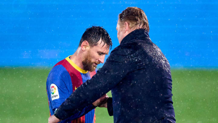 Lionel Messi, Ronald Koeman head coach
