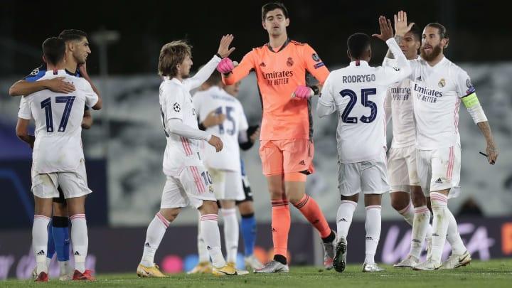 Rodrygo, Sergio Ramos, Luka Modric, Thibaut Courtois