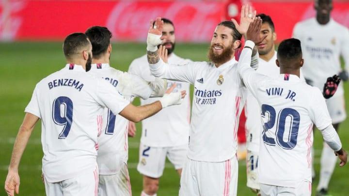 Karim Benzema Marco Asensio Sergio Ramos Vinicius Junior Real Madrid