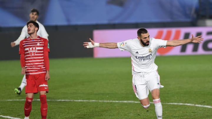 Karim Benzema making it 2-0 just before the full time whistle