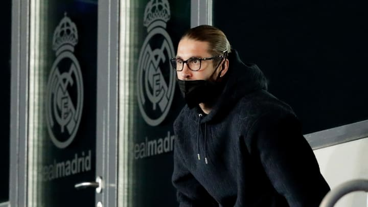 Ramos watches his side take on Liverpool