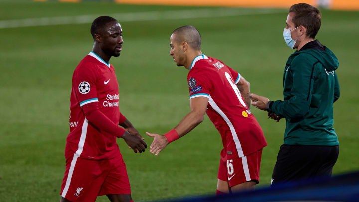 Naby Keita was hooked after 42 minutes by Jurgen Klopp