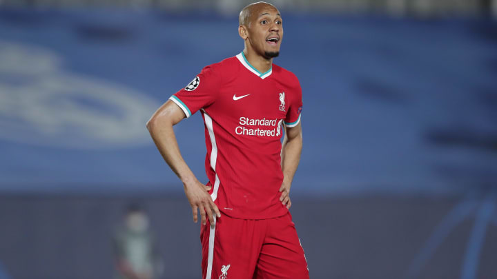 Fabinho was seen laughing after Liverpool's defeat to Real Madrid