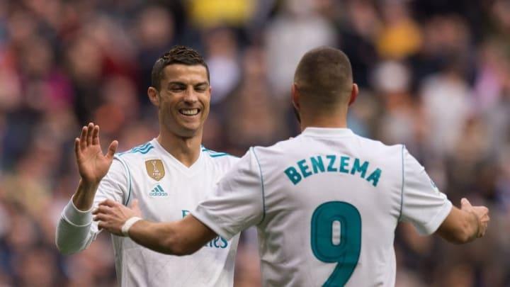 Benzema y Cristiano Ronaldo