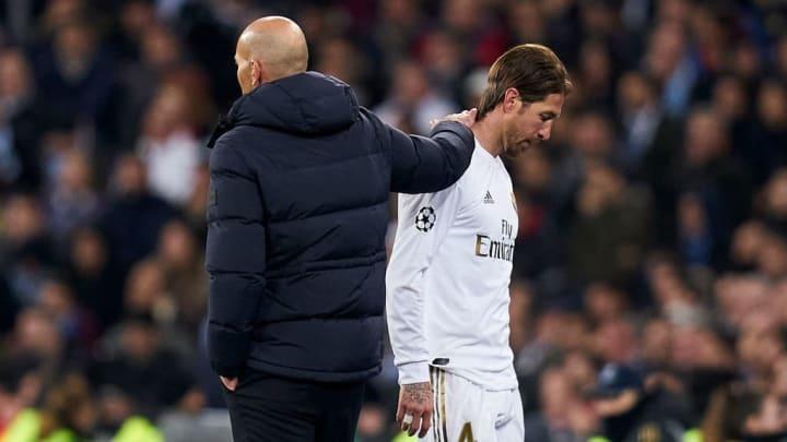Zinedine Zidane, Manager of Real Madrid, Sergio Ramos