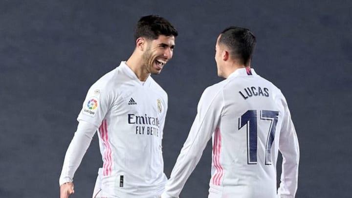 Asensio y Lucas, goleadores ante el Celta