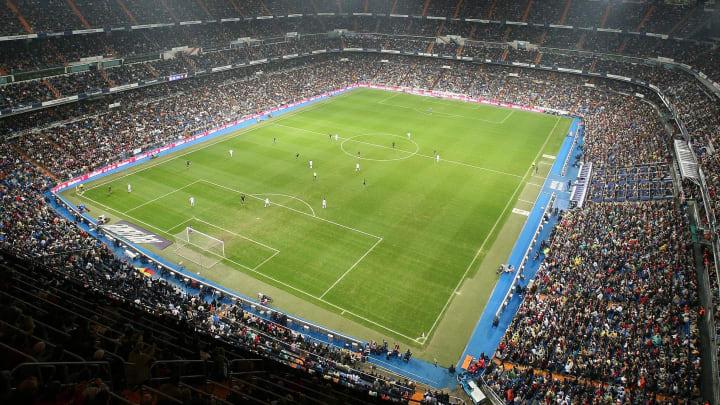 Real Madrid'in mabedi Santiago Bernabeu'dan bir görüntü