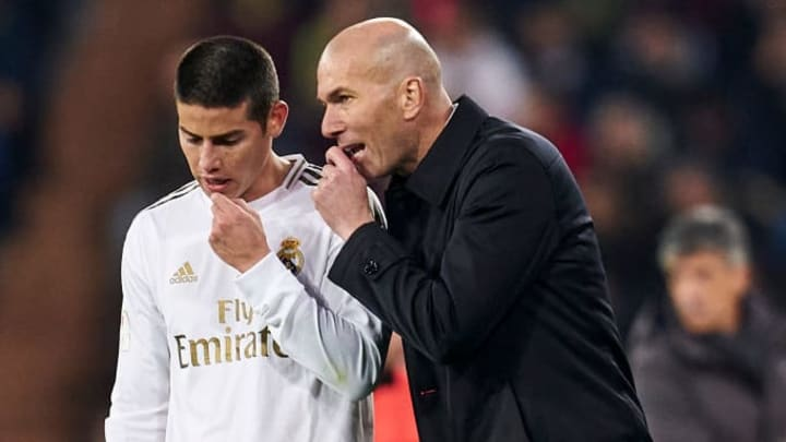 Zinedine Zidane, Manager of Real Madrid, James Rodriguez