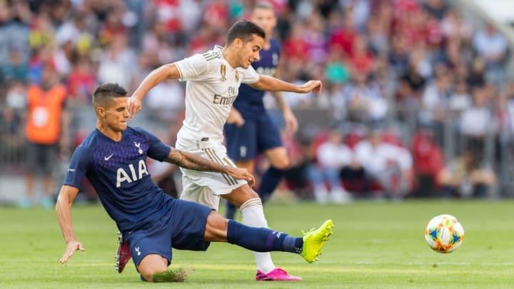 Lucas Vazquez von Real Madrid im Duell mit Tottenham Hotspur
