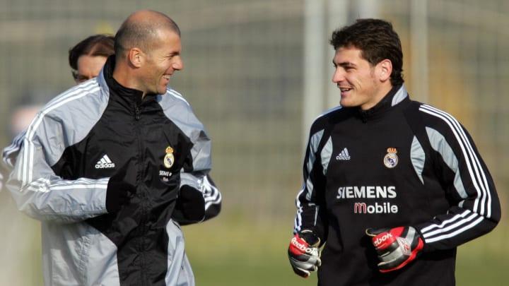 Real Madrid's French player Zinedine Zid
