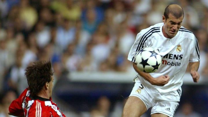 Real Madrid's Frenchman Zinedine Zidane