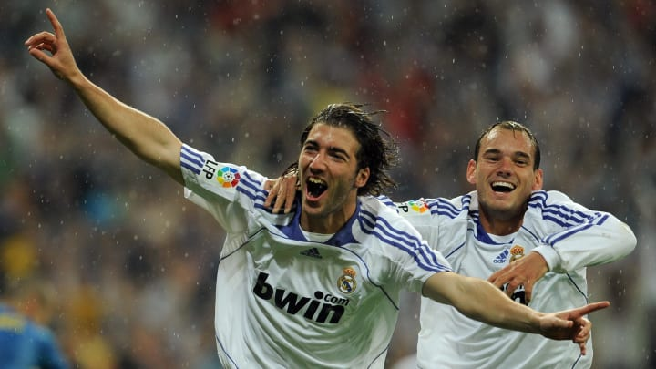Real Madrid's Gonzalo Higuain and Wesley