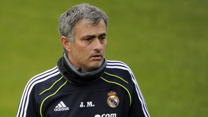 Real Madrid's Portuguese coach  Jose Mou