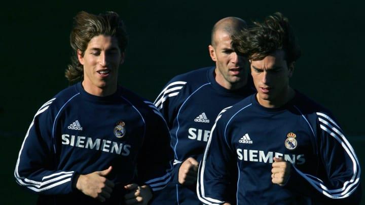 Real Madrid's Sergio Ramos (L), Zinedine