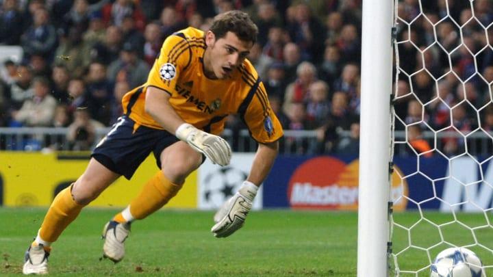 Real Madrid's goalie Iker Casillas watch