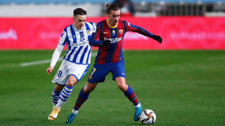 Antoine Griezmann was influential in Barcelona's forward play