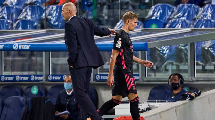 Zinedine Zidane head Coach, Martin Odegaard