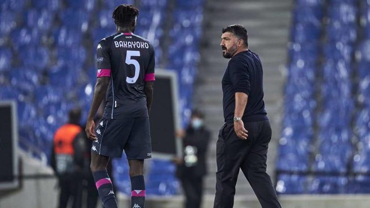 Ivan Gennaro Gattuso head coach, Tiemoue Bakayoko