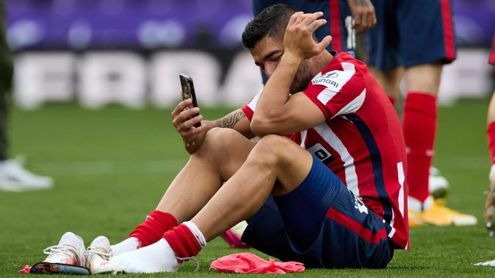 Luis Suarez en larmes après le sacre de l'Atlético.