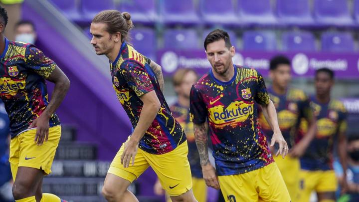 Antoine Griezmann, Lionel Messi, Nelson Semedo