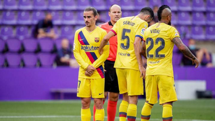 Antoine Griezmann, Arturo Vidal, Sergio Busquets