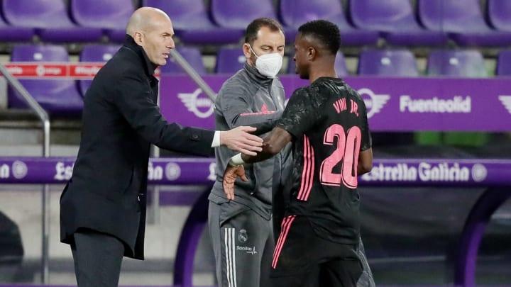Zinedine Zidane y Vinicius Jr