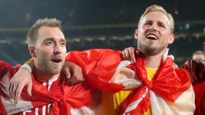 Kasper Schmeichel has been to see Christian Eriksen in hospital