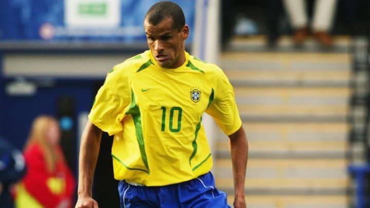 Rivaldo of Brazil running with the ball