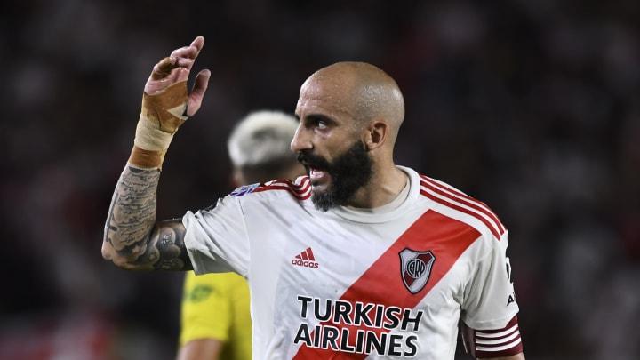 Kehrt er nochmal zum 1. FC Nürnberg zurück? Javier Pinola (im Dress von River Plate)