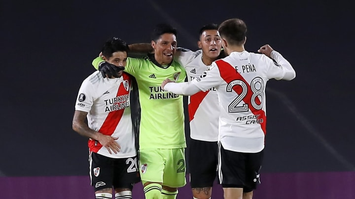 Midfielder Enzo Pérez was the star of the show as he played between the sticks