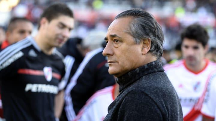 River Plate's team coach Juan Jose Lopez