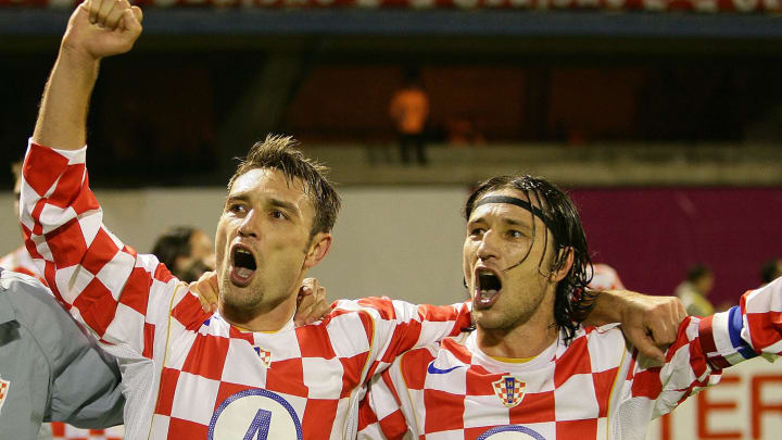 Robert (L) and Niko Kovac of Croatia cel