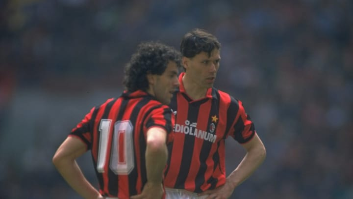 Roberto Donadoni and Marco Van Basten of AC Milan