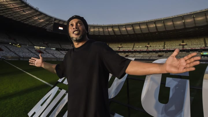 Ronaldinho has only just been released from prison