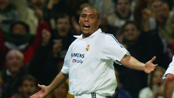 Ronaldo of Real Madrid celebrates his goal