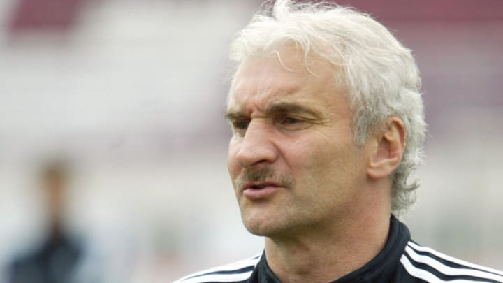 Rudy Voeller, the coach of the German fo