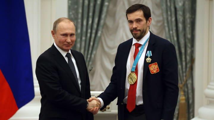 Vladimir Putin and Pavel Datsyuk