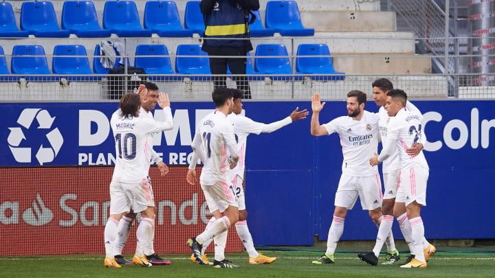 Drehten das Spiel in Huesca: die Spieler von Real Madrid