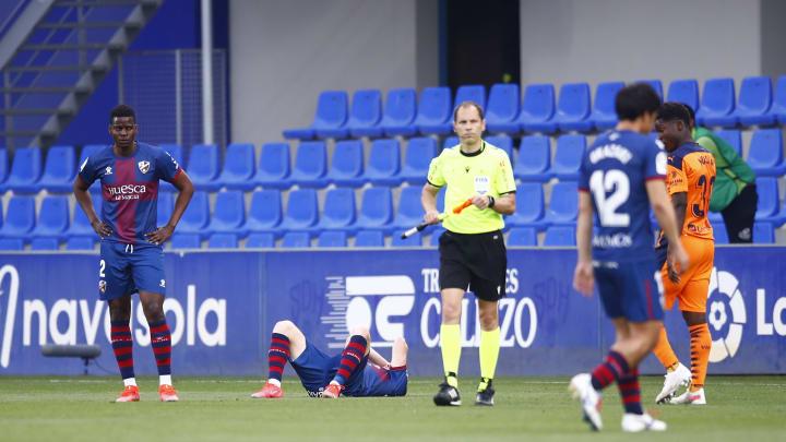 El SD Huesca es uno de los equipos descendidos