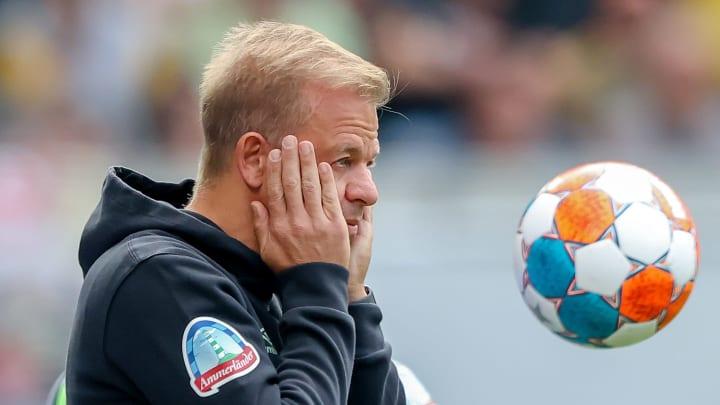 Markus Anfang brachte die Leistung seines Teams in Dresden zur Verzweiflung