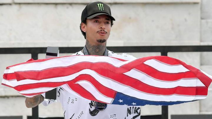 Nyjah Huston will represent America at the Tokyo Olympics in skateboarding.
