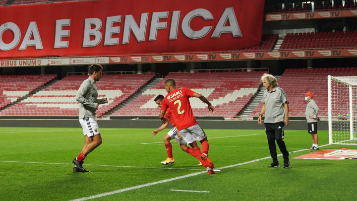 Jorge Jesus à frente do Benfica