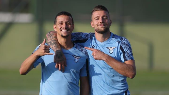 Gute Laune bei Lazio vor dem Duell mit Lokomotiv